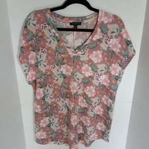 Lane Bryant thermal feel floral loose tunic. 14W